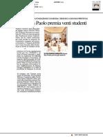 Fondazione Intesa Sanpaolo premia venti studenti - Il Resto del Carlino del 5 luglio 2019