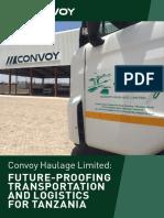 Convoy Haulage Tanzania Brochure 2018