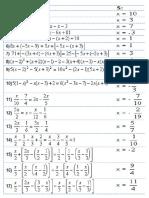 Ecuaciones e Inecuaciones de Primer Grado Con Una Incognita