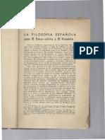 La Filosofia Española Para El Doceañista y El Krausista