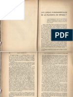 Las Lineas Fundamentales de La Filosofia de Ortega