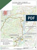 Tour de France 2019 - Etape 5 - Carte Des Perturbations Sur Les Routes Réduite
