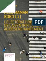 ALLÔ MAMAN BOBO (1) L'ÉLECTORAT URBAIN, DE LA GENTRIFICATION AU DÉSENCHANTEMENT