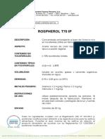 ROSPHEROL T70 IP_especificaciones