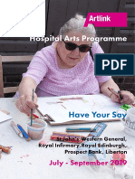Have Your Say | Hospital Arts Programme Jul - Sep 2019