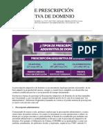 3 TIPOS DE PRESCRIPCIÓN ADQUISITIVA DE DOMINIO.docx