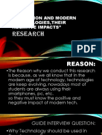 Education and Modern Technologiestheir Negative Research Copy