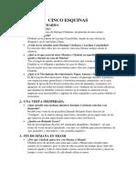 "Análisis de La Obra ""Cinco Esquinas"""