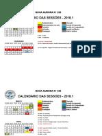 Calendário - NA208 - 2018.1