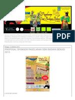 Pangsi_ Proposal Sponsor Pagelaran Seni Budaya Bekasi 2013