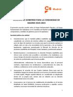 Programa de Gobierno PP Ciudadanos Madrid