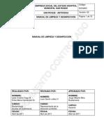 PROTOCOLO LIMPIEZA Y DESINFECC HOSPITAL SAN ROQUE.pdf