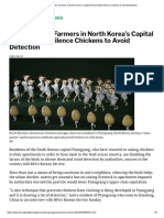 Urban Poultry Farmers in North Korea's Capital Permanently Silence Chickens to Avoid Detection