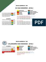 Calendario - Nova Aurora - 2018_2