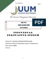 Individual Persuasive Speech