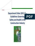 Department Order #13 SAFETY GUIDELINES