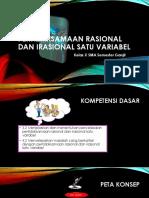 Media Powerpoint Berbasis Video KD 3.2-4.2 Pertidaksamaan rasional dan irasional satu variabel