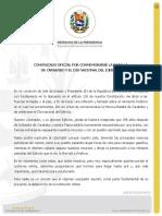 COMUNICADO OFICIAL POR CONMEMORARSE LA BATALLA DE CARABOBO Y EL DÍA NACIONAL DEL EJÉRCITO