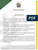 COMUNICADO OFICIAL POR ASEDIO CONTRA LA ASAMBLEA NACIONAL