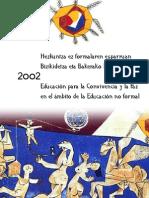 Estudio Educación para la Convivencia y la Paz en el ámbito de la Educación No Formal de la CAPV
