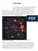 The Life Cycle Of A Star.docx