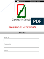 Simulado 01 - Português - 5º Ano - (Blog Do Prof. Adonis)