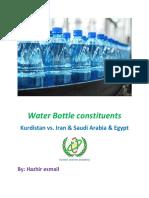 Water Bottle constituents Kurdistan vs. Iran & Saudi Arabia & Egypt
