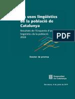 Enquesta usos lingüístics 2018
