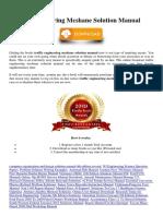 Traffic Engineering Mcshane Solution Manual