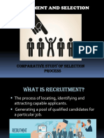 A Study on Recruitment and Selection.