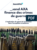 Rapport Sumofus - Quand Axa Finance Des Crimes de Guerre
