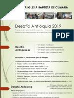 Desafío Antioquía 2019 Presentación