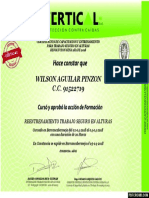 Certificado de Altura