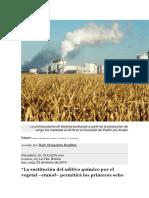 La primera planta de biotenal producida a partir de la producción de sorgo fue instalada el 2018 en el municipio de Pailón por Anapo.docx