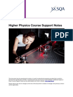 Higher Physics Course Unit Support Notes