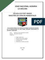 Evaluación técnica del Sistema de Gestión de Residuos Sólidos de una Municipalidad de Lima Metropolitana a través de Indicadores de Gestión y Operación