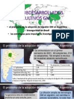 Países Subdesarrollados y Cultivos Gm