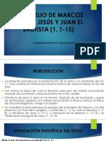 Evangelio de Marcos cap 1, 1-15