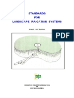 Standards for Landscape Irrigation System