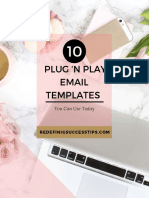 10 Plug N Play Email Templates