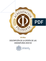 Descripcion Asignaturas 2019 02