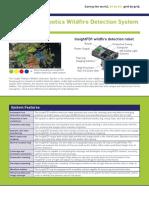 Insight Robotics - Wildfire Detection - Spec Sheet