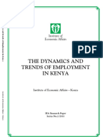 The Dynamics and Trends of Employment in Kenya1