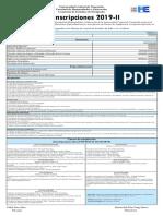 Aviso Preinscripciones Postgrado- 2019-II escuela de filosofía UCV