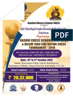 KCS First Open Below 1600 Fide Rating Chess Tournament 2019