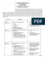 4th Form Literature Course Outline - Christmas Term 2018