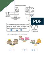 Rocío realiza las siguientes comparaciones usando la balanza.docx