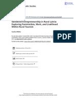 Gender and entrepeneurship in rural LATVIA