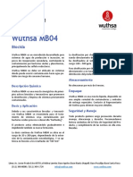 Biocida Wuthsa Mb04 - Hoja Técnica