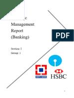 REport on SBI HSBC HDFC banks